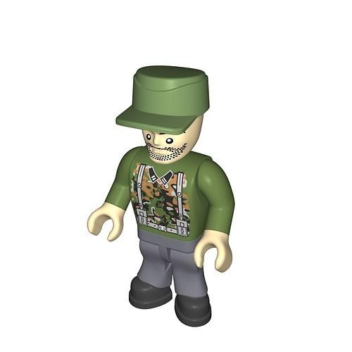 Wehrmacht soldier camouflage green (229)