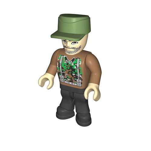 Wehrmacht soldier camouflage brown (275)