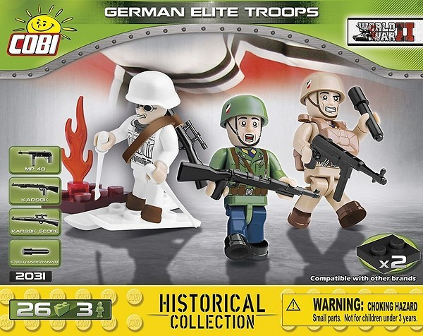 COBI American Airborne Division WWII 3 Figures 2033 American Soldiers