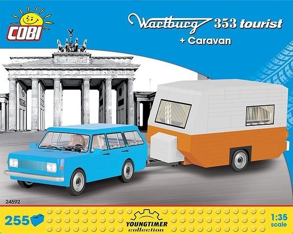 24592 - Wartburg 353 Tourist + Caravan