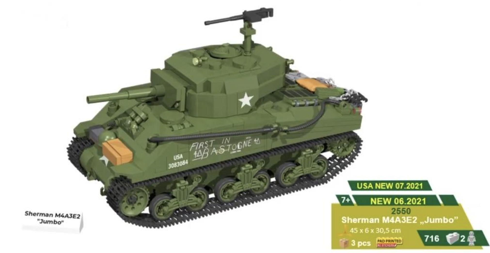 """2550 - Sherman M4A3E2 """"Jumbo"""""""